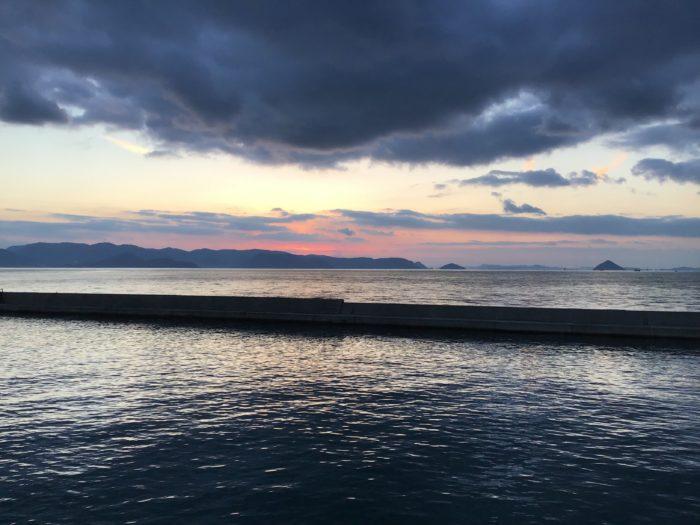 男木島の夕日