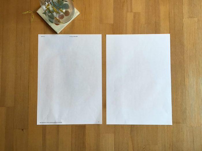 プリントアウトした型紙