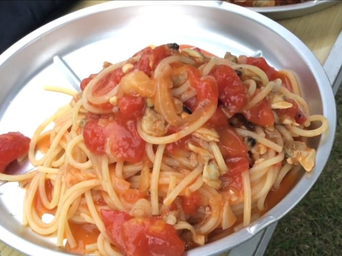 あさりのトマトパスタ